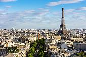 istock Paris cityscape with Eiffel Tower. Paris, France 855354406
