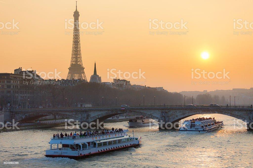 Paris, Cityscape with Eiffel Tower stock photo