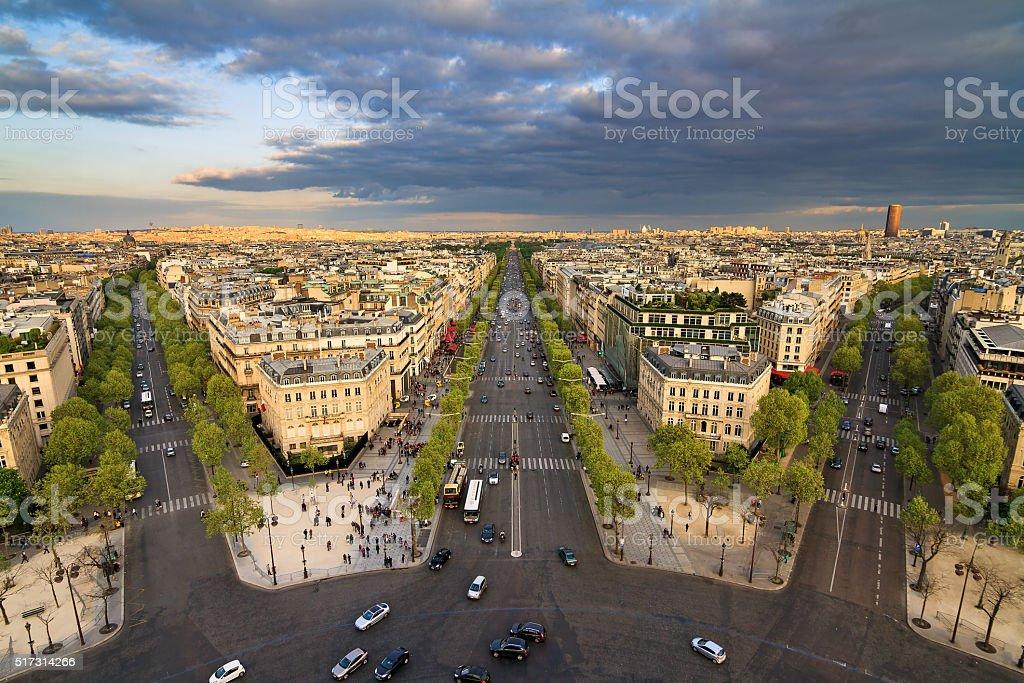 Paris cloudscape afternoon stock photo