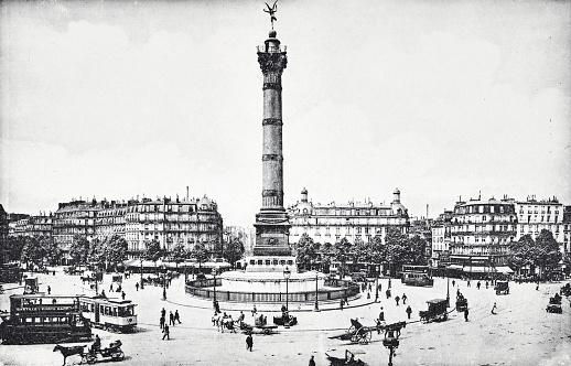 Paris, Column of July, Place de la Bastille