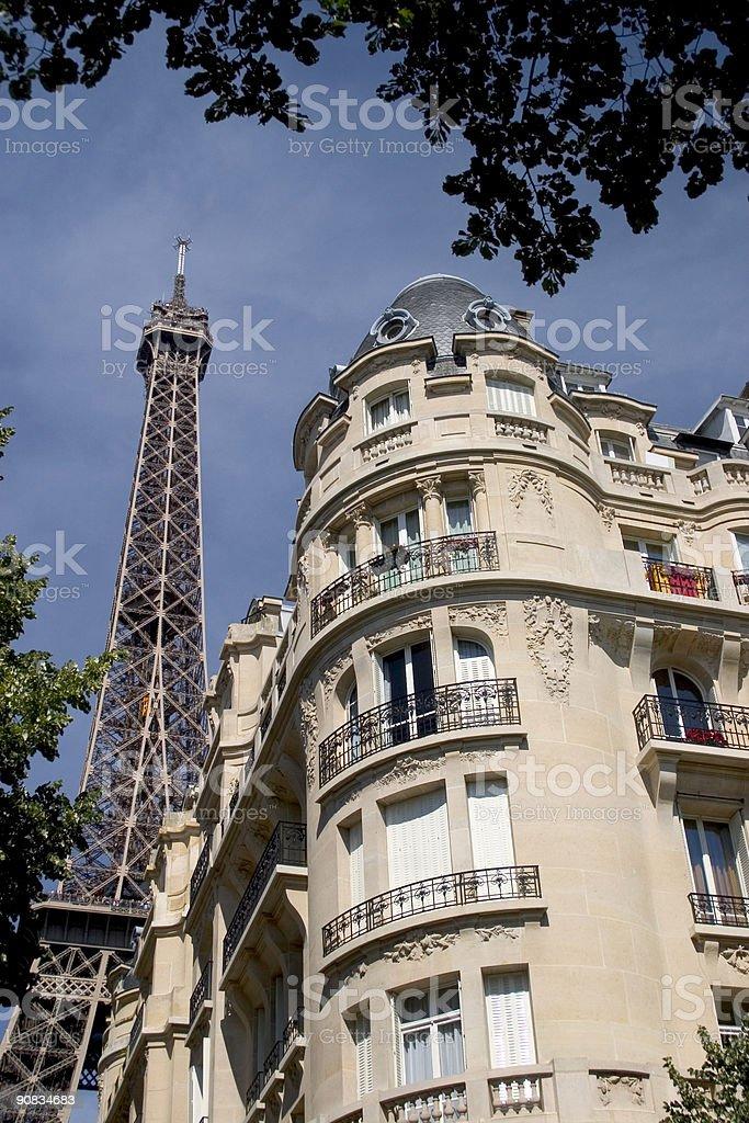 Paris Eiffel Tower Apartments royalty-free stock photo