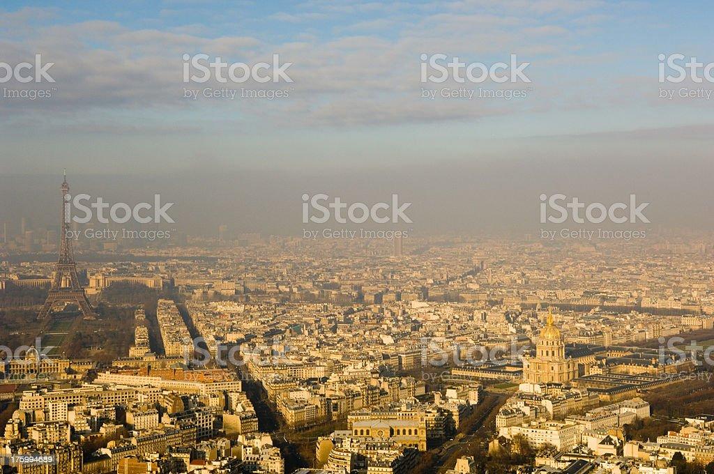 Paris Eiffel Tower Panorama royalty-free stock photo
