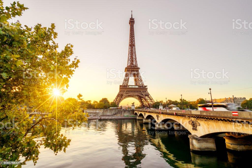 Paris auf den Eiffelturm Lizenzfreies stock-foto
