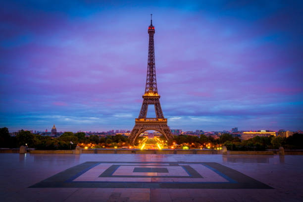 paris eiffel tower - eiffel tower stock photos and pictures