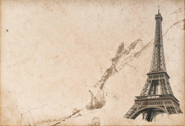 Royalty free eiffel tower template pictures images and stock photos paris eiffel tower used paper texture stock photo maxwellsz
