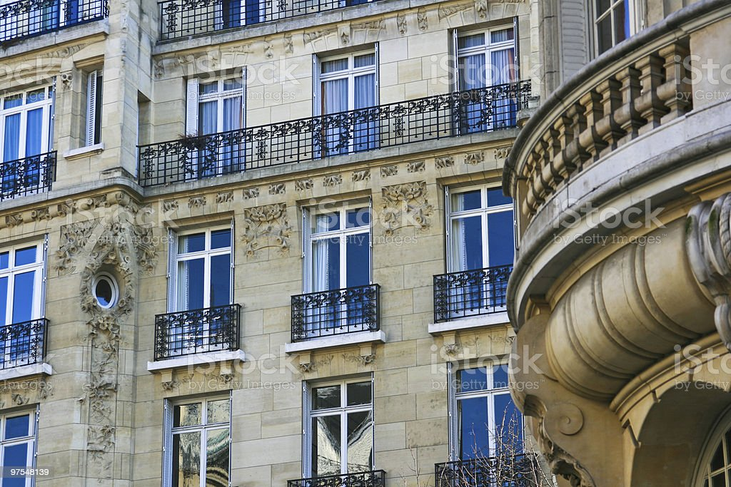 Paris elegant and beautiful homes royalty-free stock photo