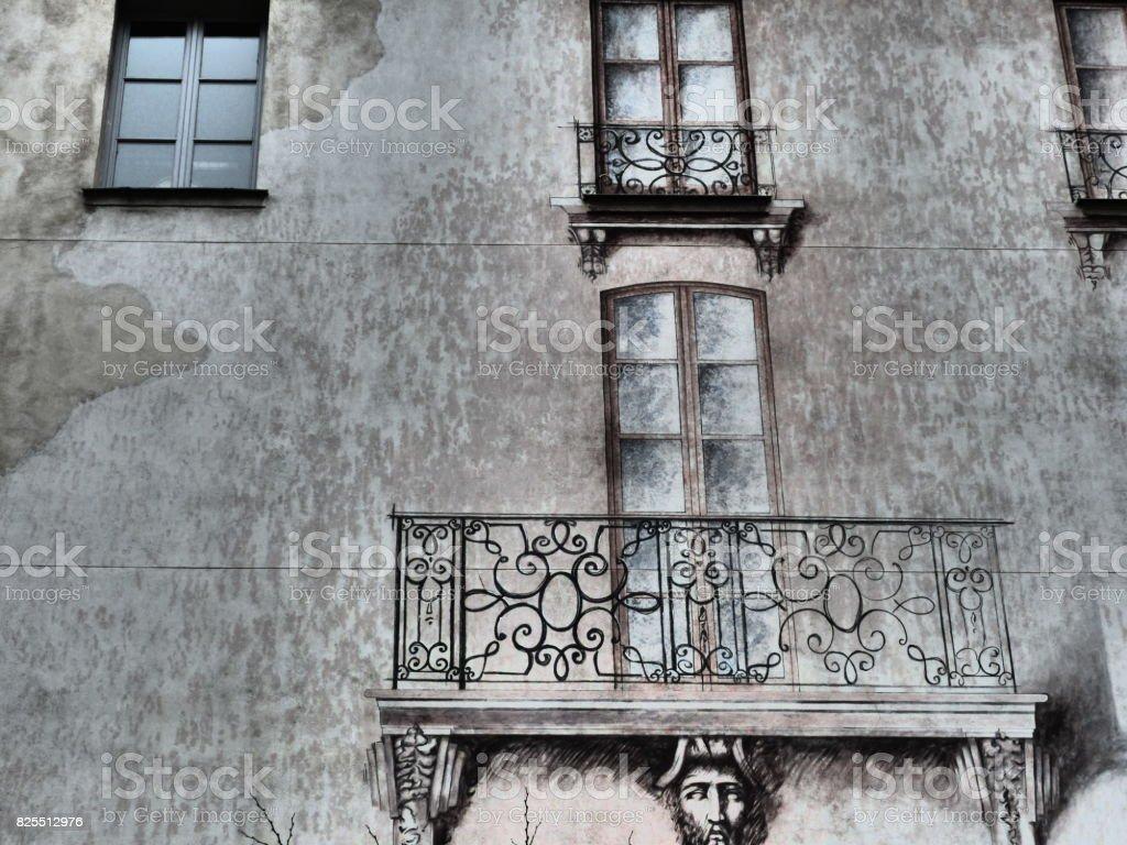 Paris evanescent and optical illusion stock photo