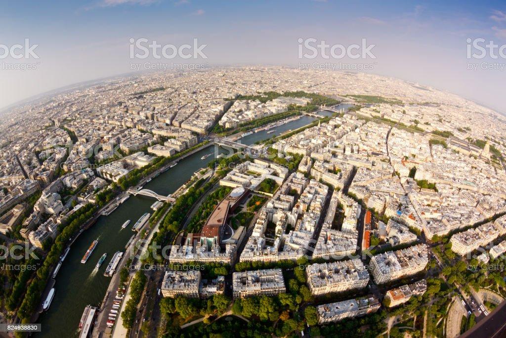 Paris Fisheye stock photo