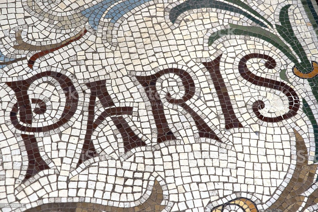 'Paris' -  floor mosaic royalty-free stock photo