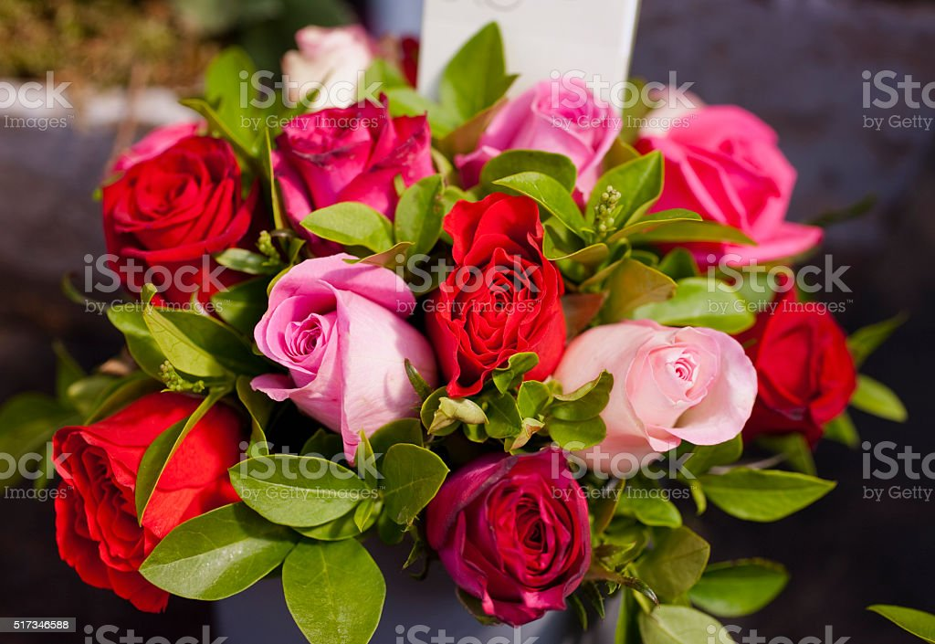 Paris Flower Market Roses stock photo