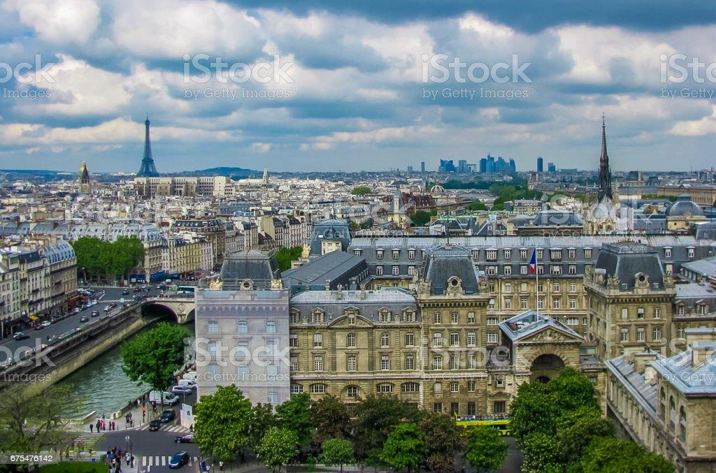 Paris, France - 05/10/2010 - Paris, France - Notre Dame - Aerial View of Paris photo libre de droits