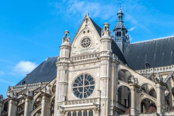 parigi, francia - 09-12-2018: la chiesa di sant'eustachio - saint eustache church foto e immagini stock
