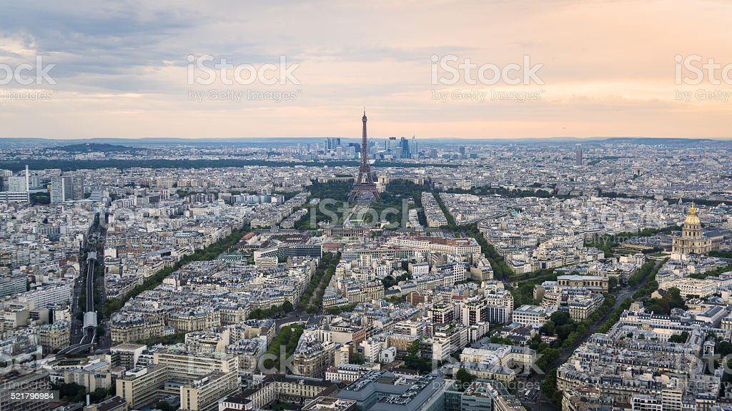 Paris, France, in late afternoon stock photo