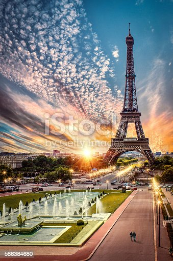 Paris, France - Sunset by Eiffel Tower