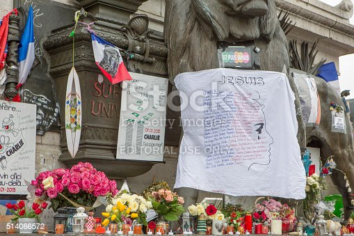 istock Paris, France Terrorism Attack Memorial (13 November 2015) Place Republique 514066572