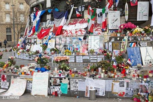 istock Paris, France Terrorism Attack Memorial (13 November 2015) Place Republique 514066588