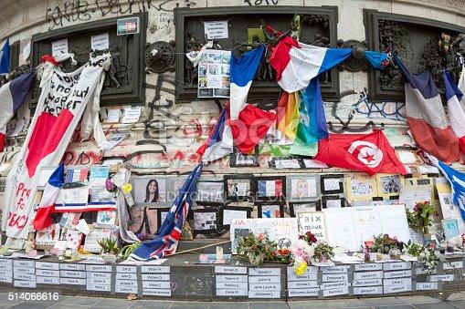 istock Paris, France Terrorism Attack Memorial (13 November 2015) Place Republique 514066616