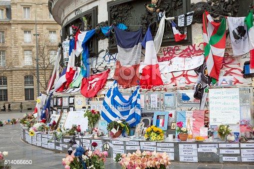 istock Paris, France Terrorism Attack Memorial (13 November 2015) Place Republique 514066650
