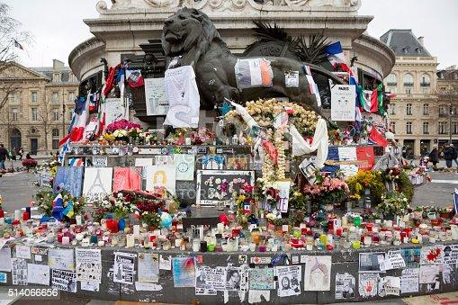 istock Paris, France Terrorism Attack Memorial (13 November 2015) Place Republique 514066656