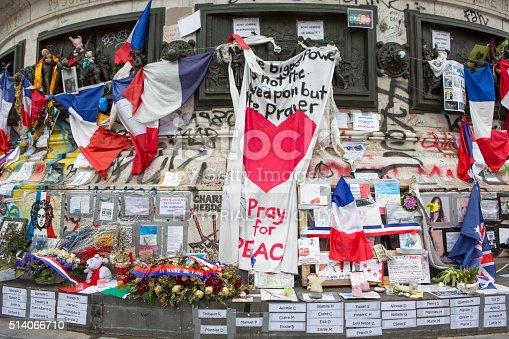 istock Paris, France Terrorism Attack Memorial (13 November 2015) Place Republique 514066710