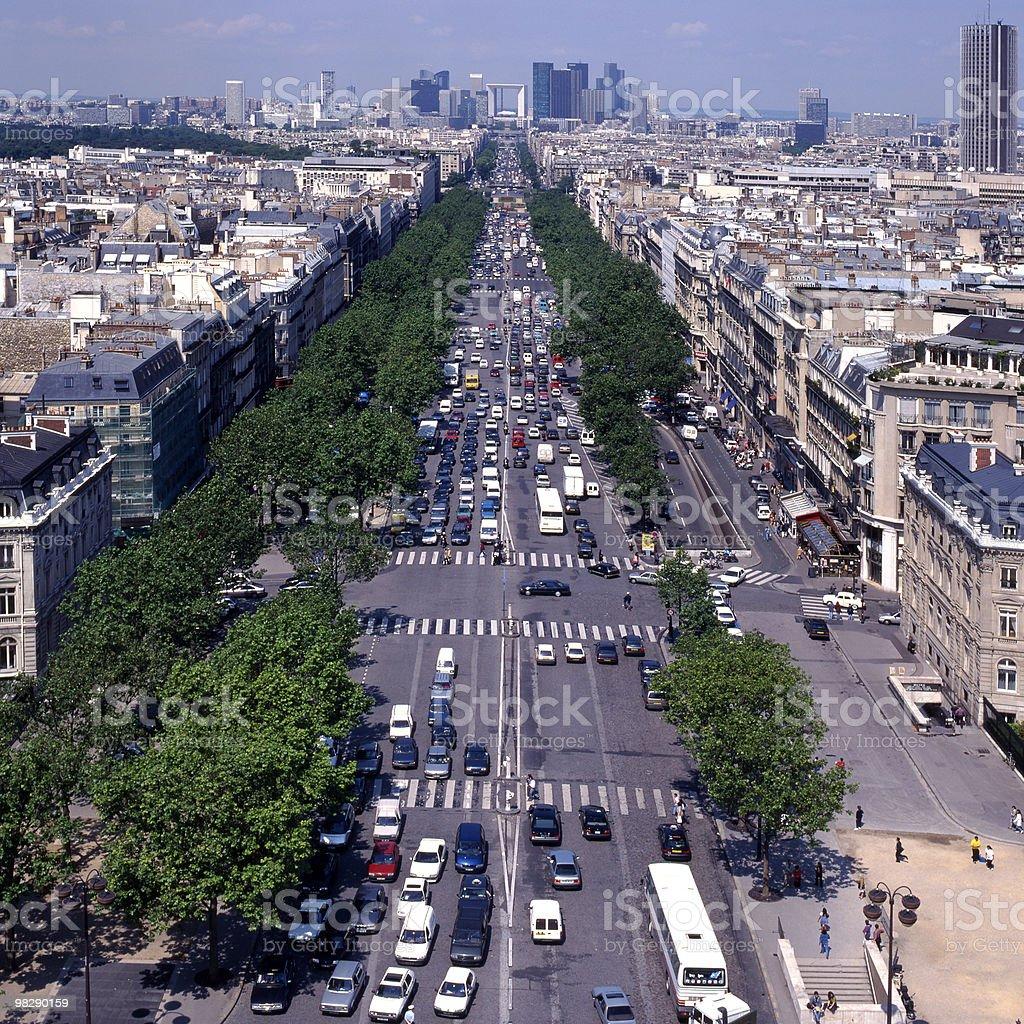 파리, 프랑스 보기 라데팡스 royalty-free 스톡 사진