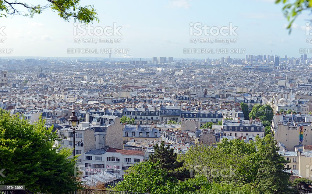 Paris, France was recently the scene of multiple terrorist attacks stock photo