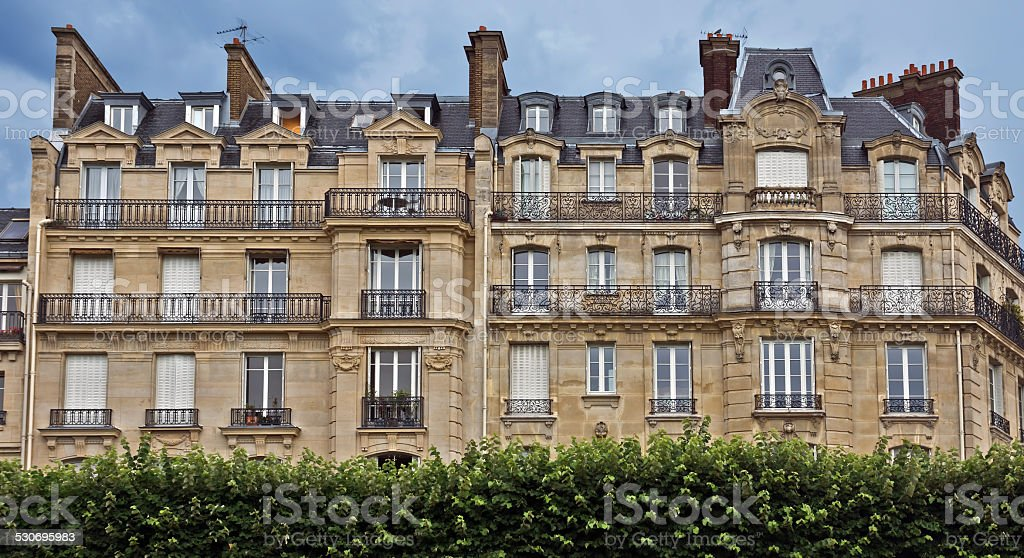 Paris - French architecture stock photo