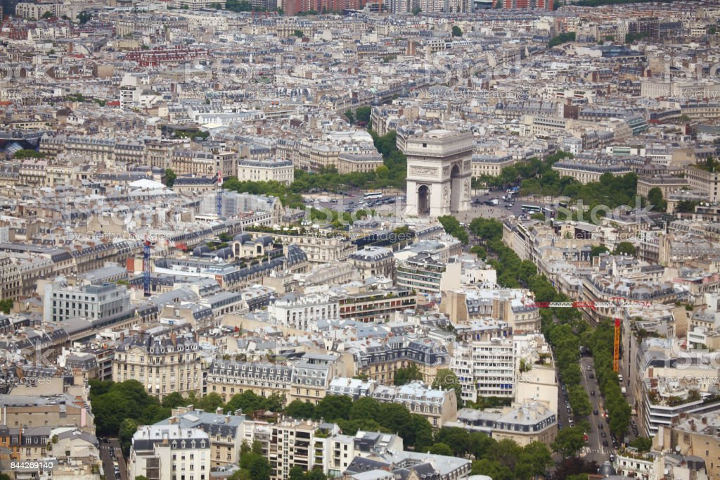 Paris from the Eiffel Tower stock photo