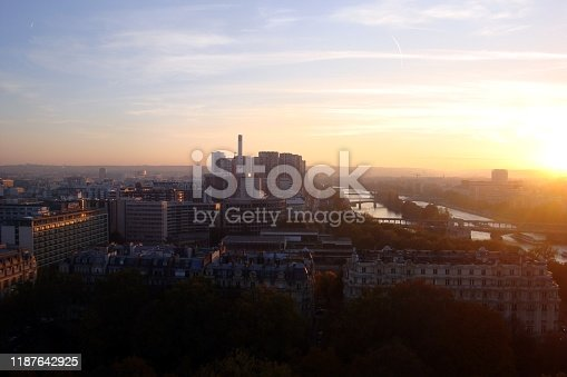 istock Paris from the tower during a sunset 1187642925