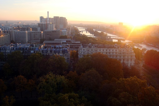 istock Paris from the tower during a sunset 1187642986
