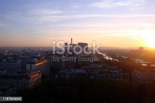 istock Paris from the tower during a sunset 1187643042