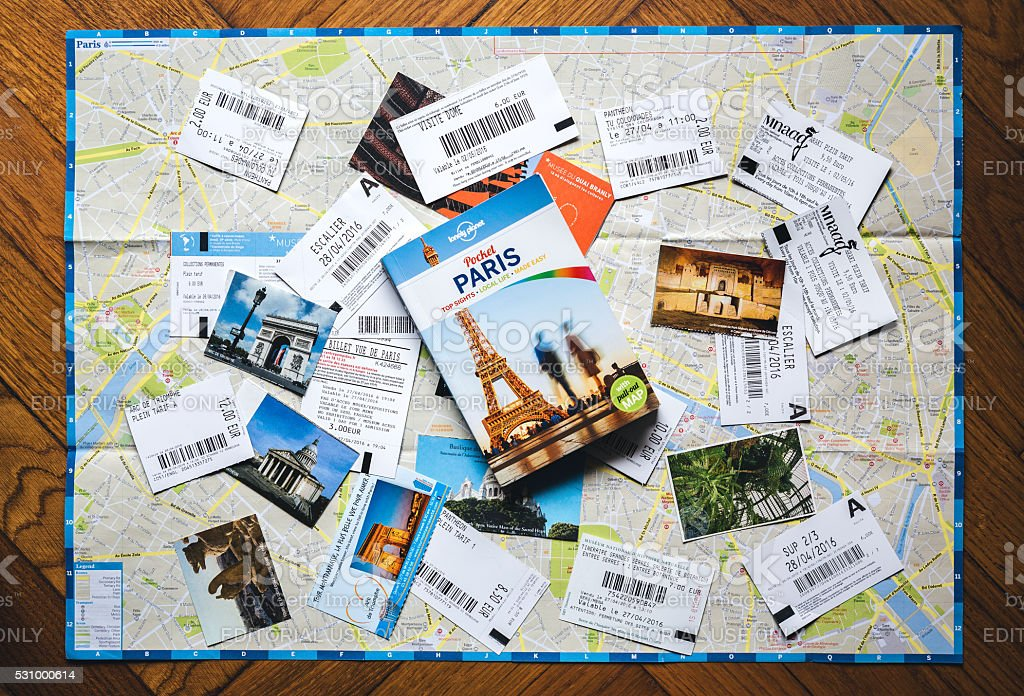 Paris Guide With Tickets From Paris stock photo