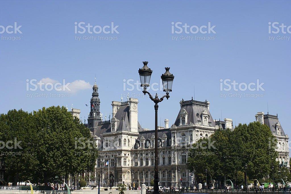Paris - Hotel de Ville, France royalty-free stock photo