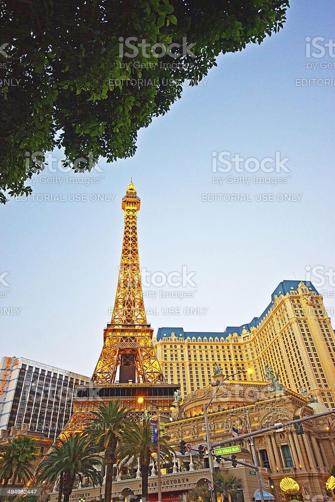Paris Hotel Las Vegas stock photo