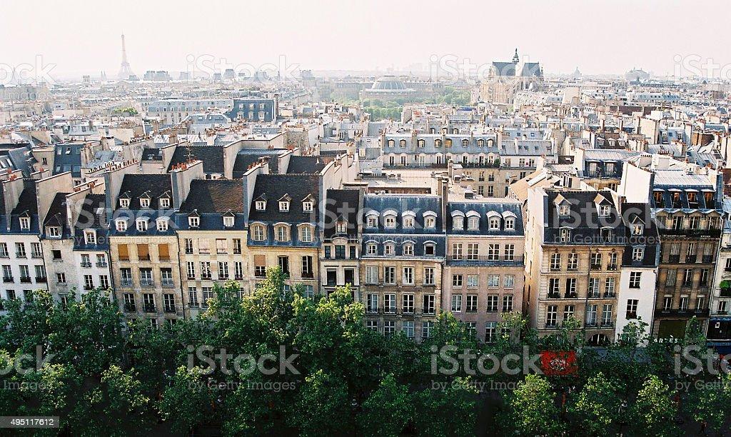 Paris in color stock photo