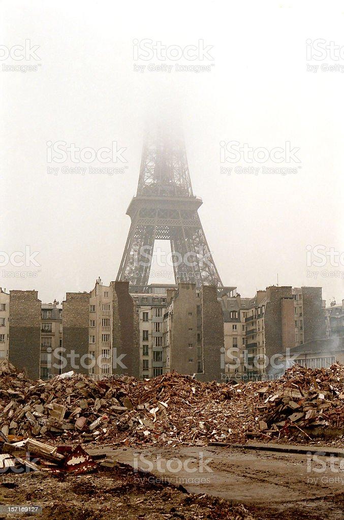 paris in ruins royalty-free stock photo