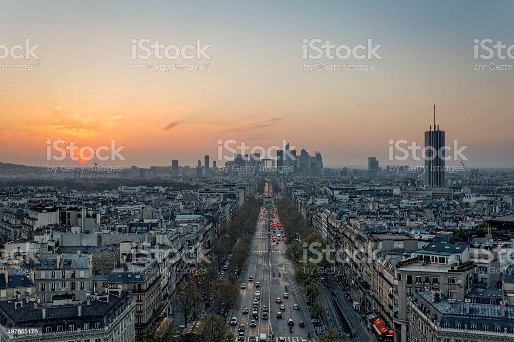 Paris & its financial district stock photo
