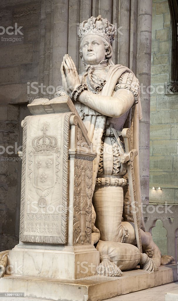 Paris - king Louis XVI from Saint Denis cathedral stock photo
