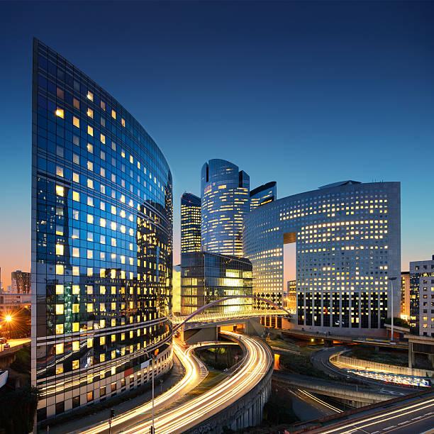 Paris La Defense office buildings stock photo