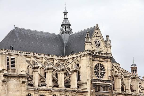 simbolo di parigi - saint eustache church foto e immagini stock