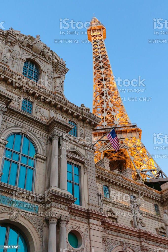 Paris Las Vegas is a luxury resort and casino stock photo