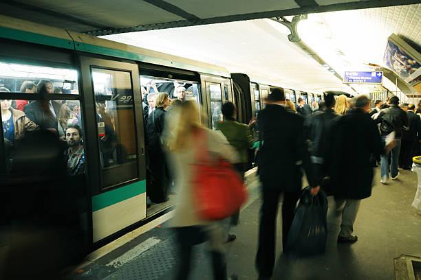 Paris Metro In The Morning - XLarge stock photo