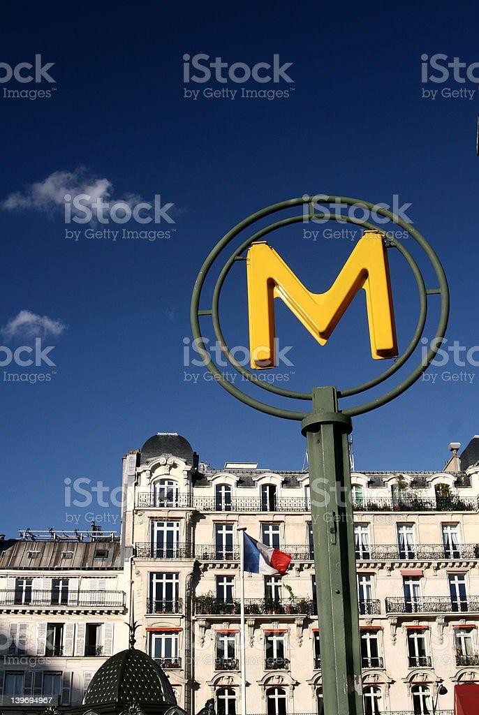 Paris metro royalty-free stock photo