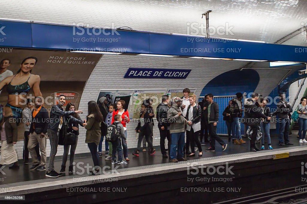 Paris metro stock photo