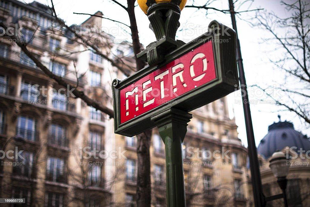 Paris Metro Sign stock photo