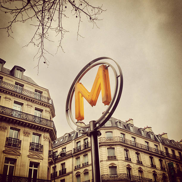 Paris Metro Sign (Mobilestock) stock photo