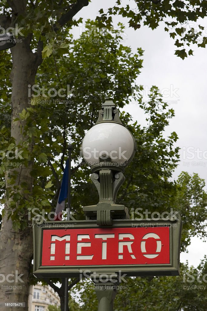 Paris Metro Sign royalty-free stock photo