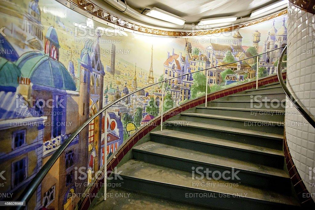 Fotografía de Estación De Metro De París Abbesses Pintura Mural Y ...