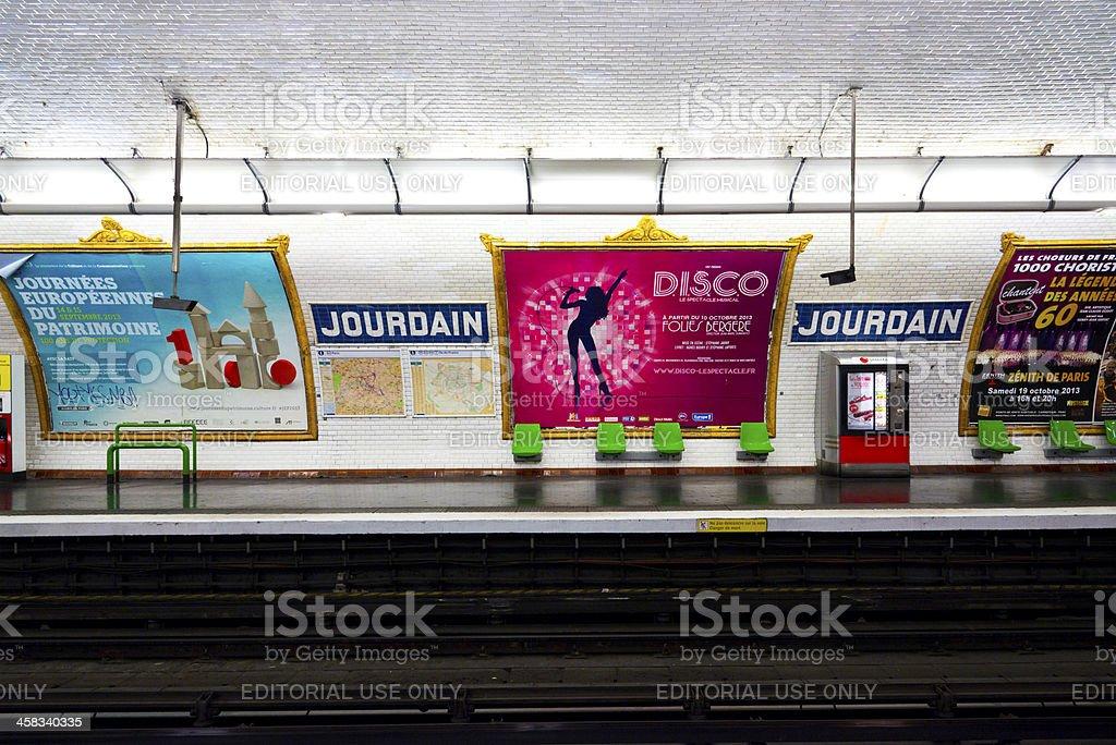 Paris Metro Station stock photo