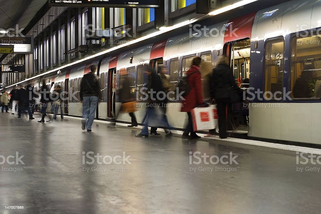 Paris Metro Stop stock photo